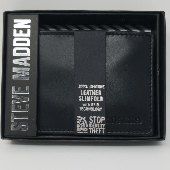 Steve Madden Bags Steve Madden Classic Black Bifold Wallet Poshmark